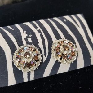 Gorgeous Vintage Clip-on Rhinestone Earrings